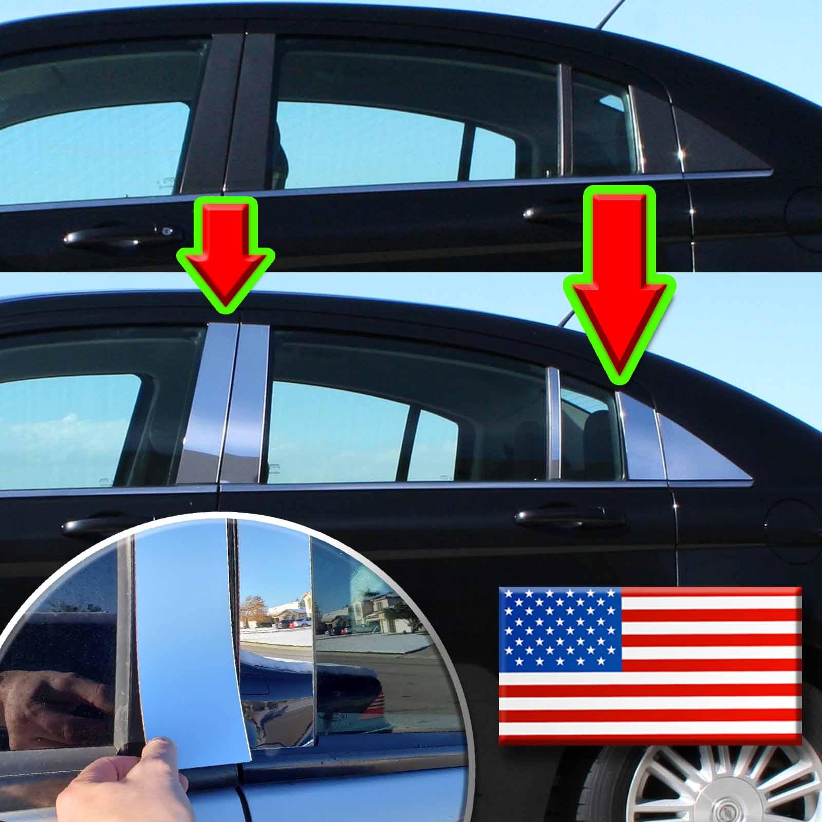 Fits Lincoln Navigator 98-02 MIRROR CHROME DOOR PILLAR POST B-PILLAR